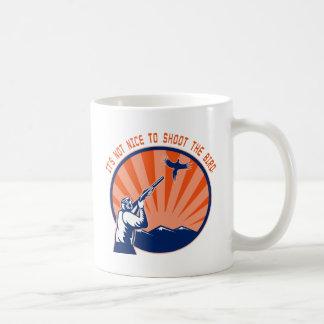 Don't shoot the bird coffee mug