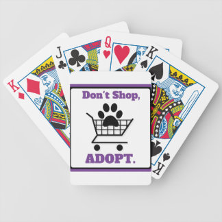 Don't Shop Adopt Bicycle Playing Cards