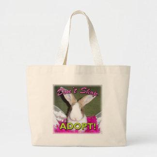 Don't Shop, Adopt! Canvas Bag