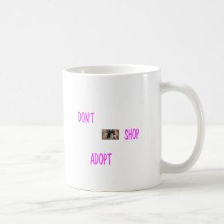 dont shop adopt coffee mug