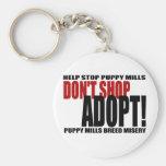 Don't Shop, Adopt! Keychain