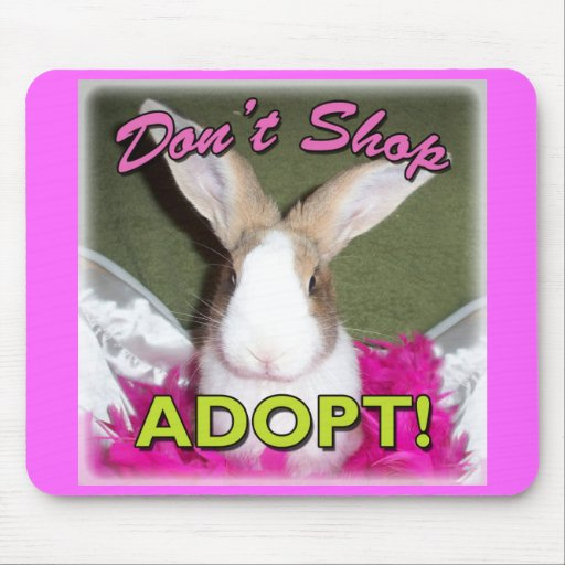 Don't Shop, Adopt! Mousepads