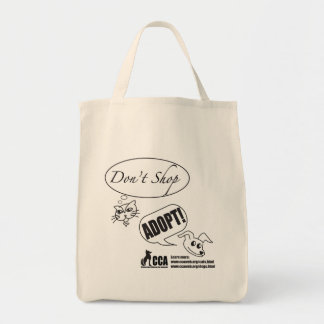 Don't Shop, Adopt! Shopping Bag