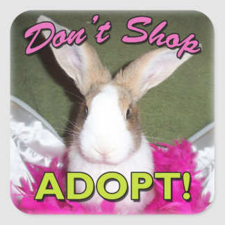 Don't Shop, Adopt! Square Sticker
