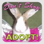 Don't Shop, Adopt! Square Stickers