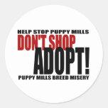 Don't Shop, Adopt! Sticker