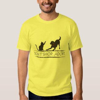 Don't Shop - Adopt! T Shirts