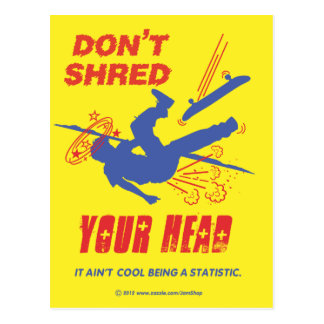 Don't Shred Your Head Postcard