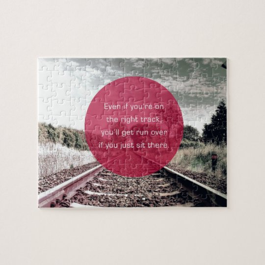 Dont Sit In Place Motivational Quote Jigsaw Puzzle Zazzlecom