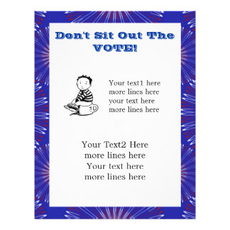 Don't Sit Out The Vote custom flyer
