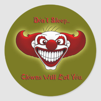 Don't Sleep... Classic Round Sticker