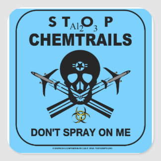 Don't Spray on Me! - Chemtrails Stickers