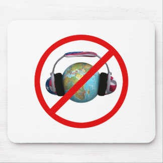 Don't Spy The World Mouse Pad
