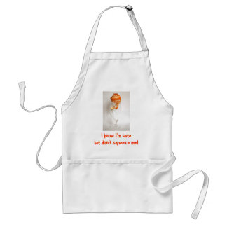 don't squeeze me mandarin adult apron