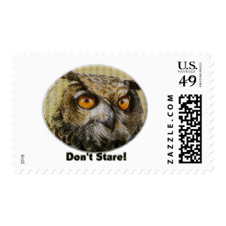Don't Stare Owl Postage