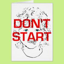 Don't start smoking card