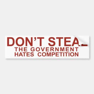 Don't Steal Car Bumper Sticker