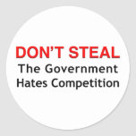 Don't Steal Round Stickers