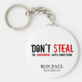 Don't Steal, The Government Hates Competition Keychain
