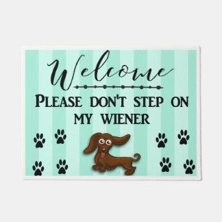 Don't Step on my Wiener Dog, Daschund Doormat