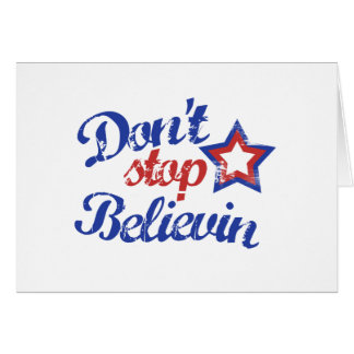 Don't Stop Believin Card