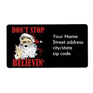 Dont stop believin' label