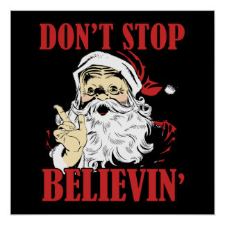 Dont stop believin' poster