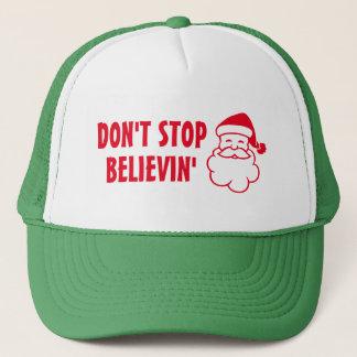 Don't stop believin Santa Claus Christmas hat