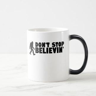 Don't stop believin'   sasquatch   bigfoot magic mug