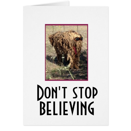 Don't stop believing card