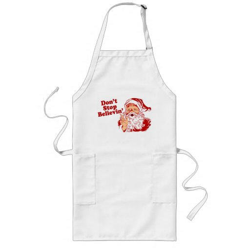 Dont Stop Believing Christmas Aprons