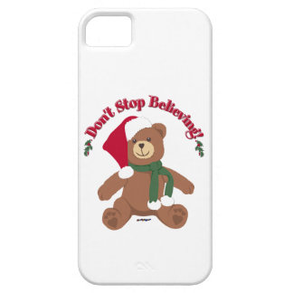 Don't Stop Believing! Christmas Bear iPhone SE/5/5s Case