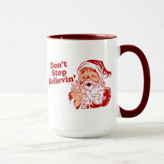Dont Stop Believing Christmas Mug
