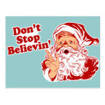 Dont Stop Believing Christmas Postcard