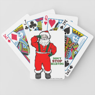 DON'T STOP BELIEVING IN SANTA CLAUS BICYCLE PLAYING CARDS