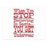 Don't Stop Believing in Santa Postcard