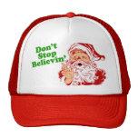 Don't Stop Believing In Santa Trucker Hat