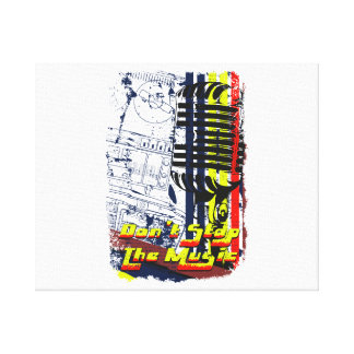 dont stop music affected grunge image canvas print