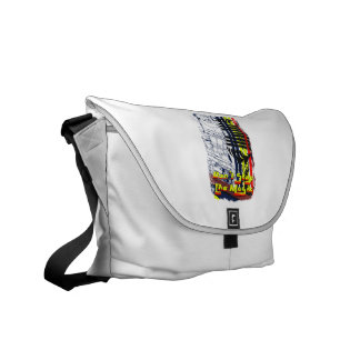 dont stop music affected grunge image courier bag