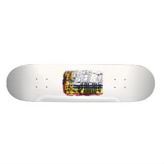 dont stop music affected grunge image skateboard deck