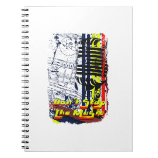 dont stop music affected grunge image spiral notebook