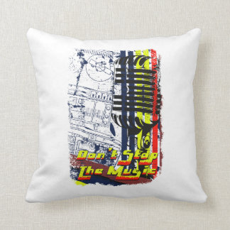 dont stop music affected grunge image throw pillow
