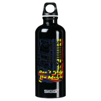 dont stop music affected grunge image water bottle
