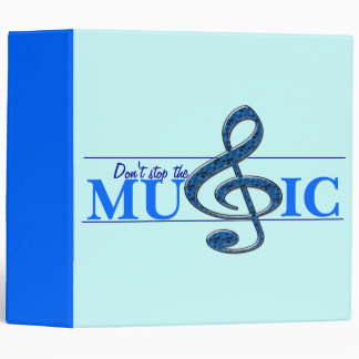 Don't Stop The Music Blue Accent Binder