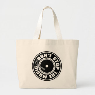 DON'T STOP THE MUSIC LARGE TOTE BAG