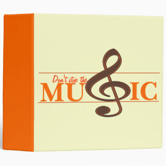 Don't Stop The Music Orange Accent Binder