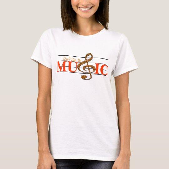 Don't Stop The Music Orange Accent Ladies T-shirt