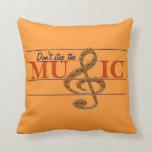 Don't Stop The Music Orange Decorative Pillow