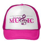 Don't Stop The Music Pink Accent Hat