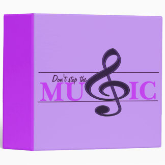 Don't Stop The Music Purple Accent Binder